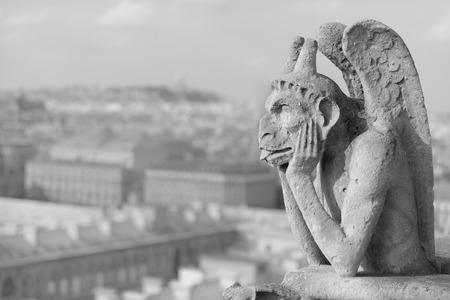 best known: Guardian demon, the best known chimera of Notre Dame de Paris