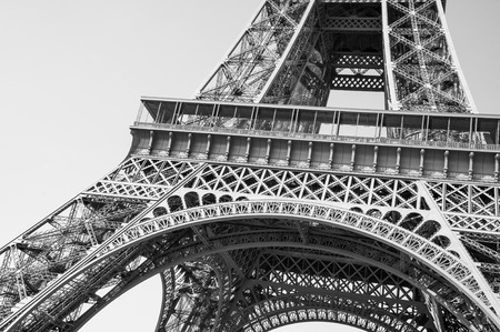 deiffel: Exquisite ironwork details of Eiffel tower, Paris, France