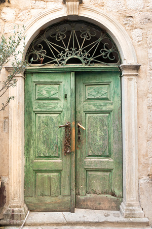 old town house: Entrance to the old house in medieval Kotor town, Montenegro