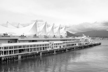 Convention Center: Canada Place, the cruise ship terminal and convention center, Vancouver, Canada Stock Photo
