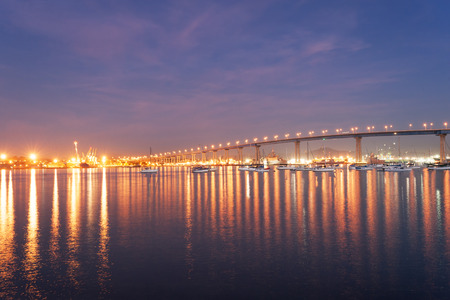 Bridge from San Diego to Coronado above San Diego Bay, California Banque d'images
