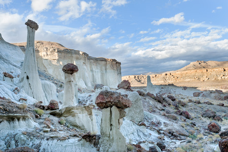 hoodoos: Famous hoodoos in Wahweap wash in Grand Staircase Escalante national monument