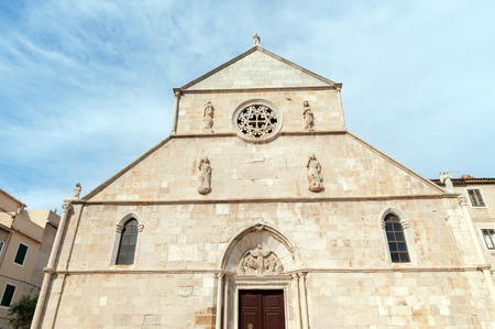 Basilica of the Assumption of Mary, XV century main church in the Old Town of Pag, Pag island, Croatia