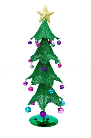 decembe: Christmas tree isolated on a white background