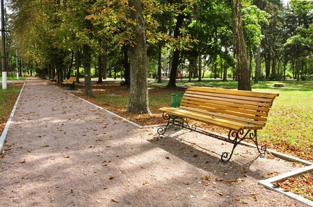 recedes: sunny day in autumn park Stock Photo