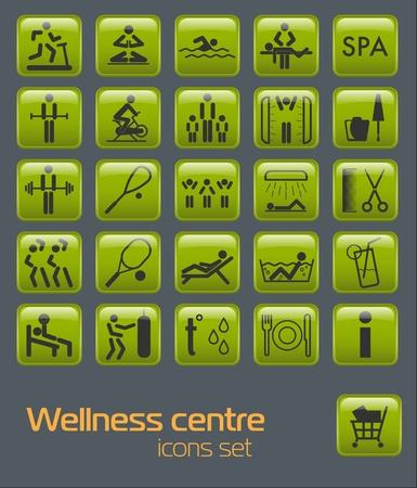 Wellness-center set pictogrammen