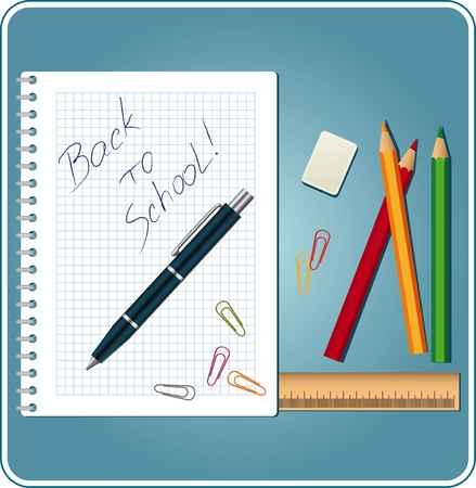 educational materials: Back to school background