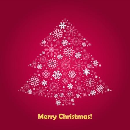 stylized Christmas tree on decorative background Stock Vector - 11546567
