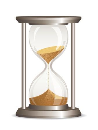sand clock: Vector de reloj de arena aislado en fondo blanco