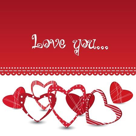 feb: Red vector valentine