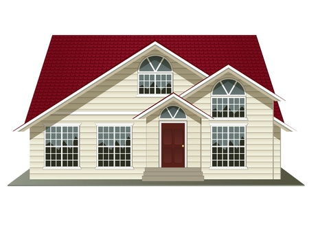 house rental: vector illustration of house isolated on white background