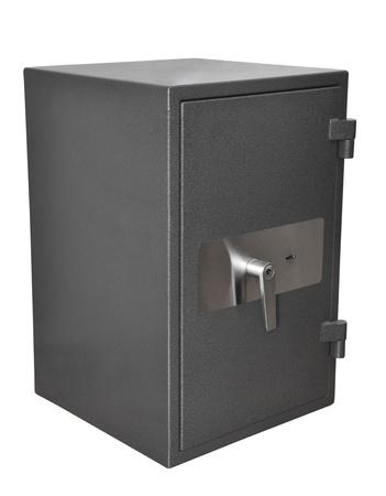 safety deposit box: Bank safe isolated on white background