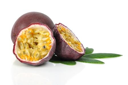 grenadilla: Passion fruit isolated on a white background
