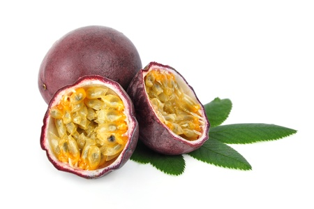 Passion fruit isolated on a white background photo