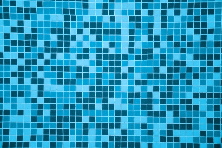 mosaic floor: tile texture background of  swimming pool tiles  Stock Photo