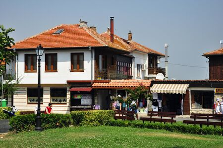 Nessebar, Bulgaria. The streets and buildings of Old Town. Summer 2012.