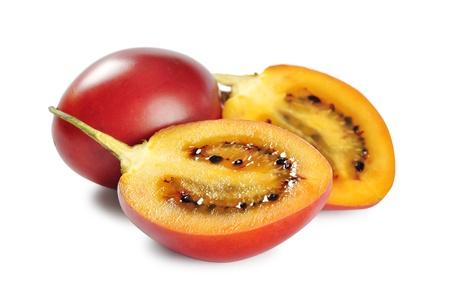 tamarillo: Tamarillo fruits isolated on white background.