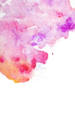 multilayer: Abstract watercolor art hand paint on white background Stock Photo