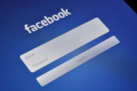 Kiev, Ukraine - Jan 12, 2013: A close-up of an Apple iPad screen showing the Facebook login page. Facebook is the world