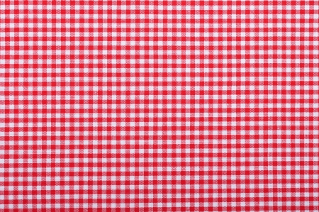 red checkered fabric closeup , tablecloth texture Stock Photo - 17601113