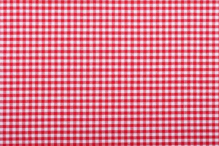 rosso a scacchi closeup tessuto, tovaglia trama