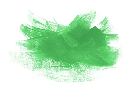 paint strokes: acrylic paint green strokes brush isolated on white background