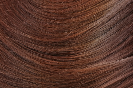 flaxen: beautiful healthy shiny hair texture closeup Stock Photo
