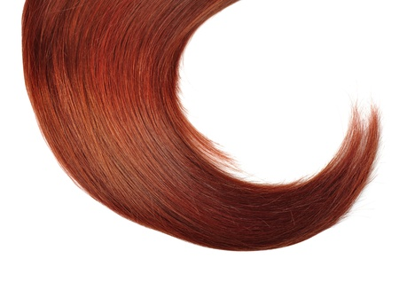 Healthy Red Hair isolated on white background photo