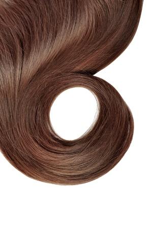 textura pelo: estilo largo cabello rojo aislado sobre fondo blanco