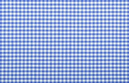 blue checkered fabric closeup , tablecloth texture photo
