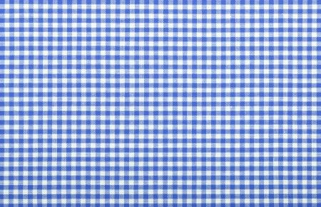 blue checkered fabric closeup , tablecloth texture Stock Photo - 18093890