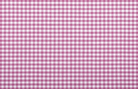 pink checkered fabric closeup , tablecloth texture Stock Photo - 18093883