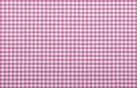pink checkered fabric closeup , tablecloth texture Stock Photo - 18093883