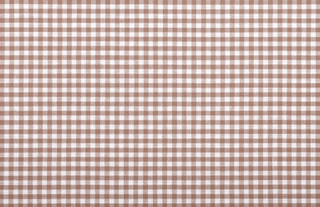 brown checkered fabric closeup , tablecloth texture photo