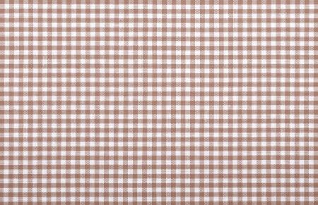 brown checkered fabric closeup , tablecloth texture Stock Photo - 18093880