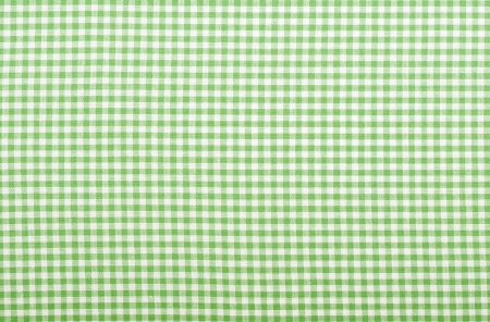 Checkered fabric closeup - series - green  Good for background   Stock Photo - 18093892