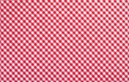 red checkered fabric closeup , tablecloth texture Stock Photo - 18409561