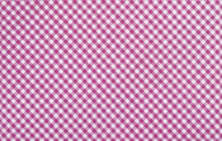 pink checkered fabric closeup , tablecloth texture Stock Photo - 18409558