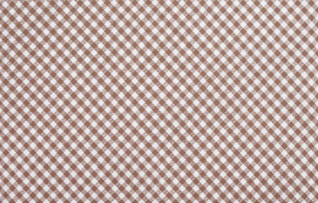 brown checkered fabric closeup , tablecloth texture Stock Photo - 18409535