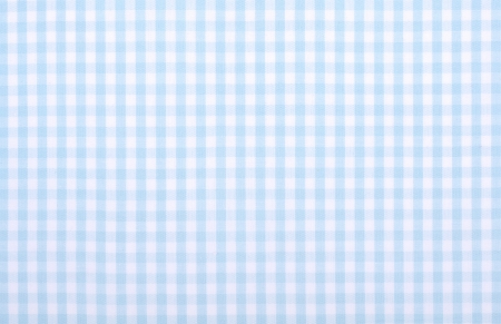 checker: light blue checkered fabric closeup , tablecloth texture