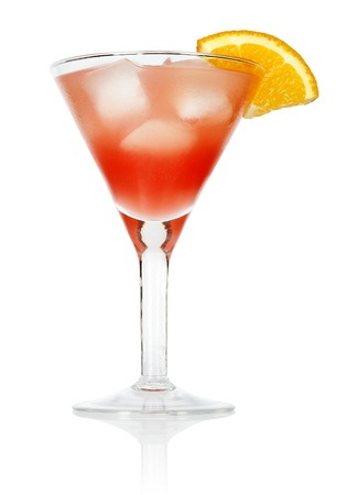 Cosmopolitan cocktail drink isolated on white background photo