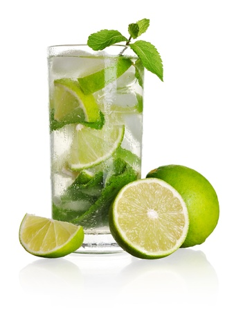 Mojito cocktail isolated on a white background Stock Photo - 20694999