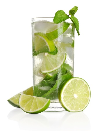 Mojito cocktail isolated on a white background photo