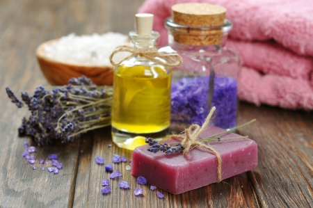 lavander: Herbal soap with oil, sea salt and lavander flowers