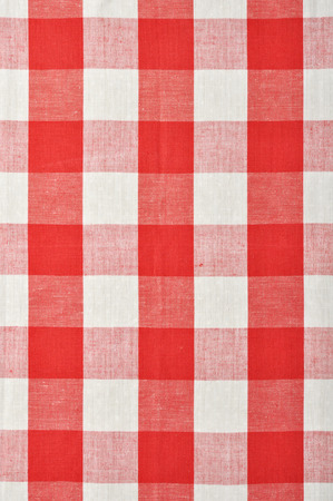 bedclothes: red checkered fabric closeup , tablecloth texture