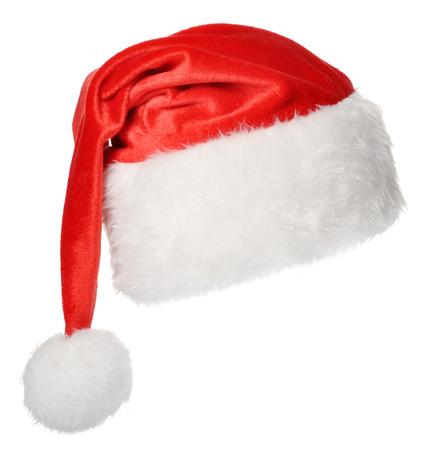 Santa Claus hat isolated on white background photo