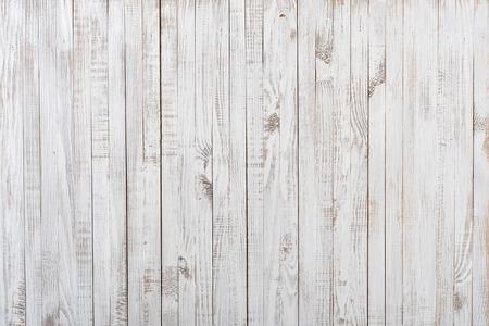 drewno: Biały malowane stare drewniane tło