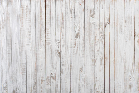 grungy wood: White painted old wooden background Stock Photo