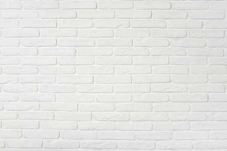 White brick wall texture. May use as background. Stock Photo - 46414950
