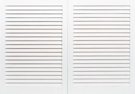 venetian blind: White wooden shutters closeup. May use as background